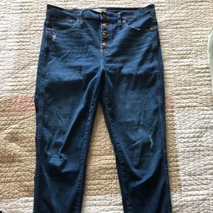 """Madewell skinny high rise 10"""" button fly jean 32"""